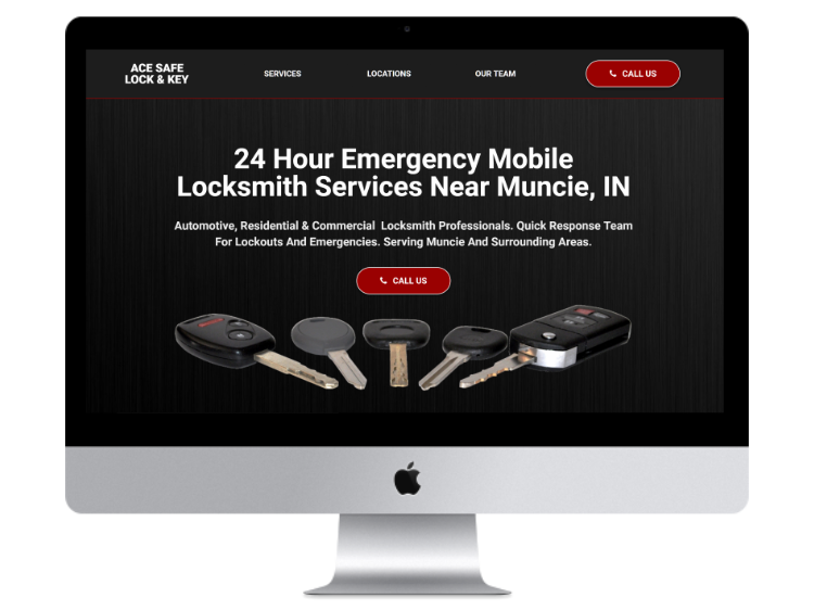 Ace Safe Lock And Key Website Design