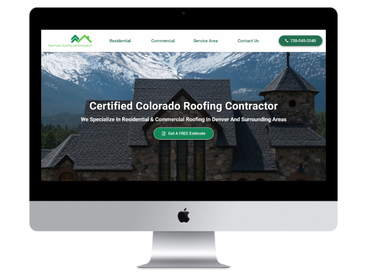 New Peaks Roofing Website Design And Development Colorado Springs